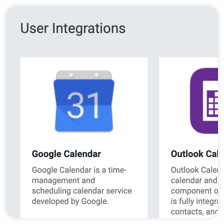 Finding Google Calendar among DeskTime's other integrations