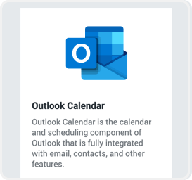 Under Settings, find the Outlook Calendar integration