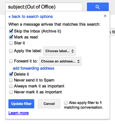Filters in Gmail
