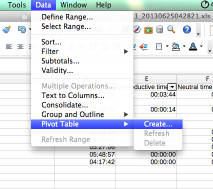 How to find the Pivot Table