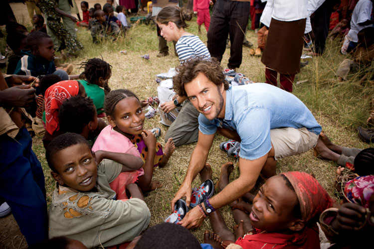 Blake Mycoskie of Toms shoes sees how meaningful his daily work is. Something that spurs him on daily.