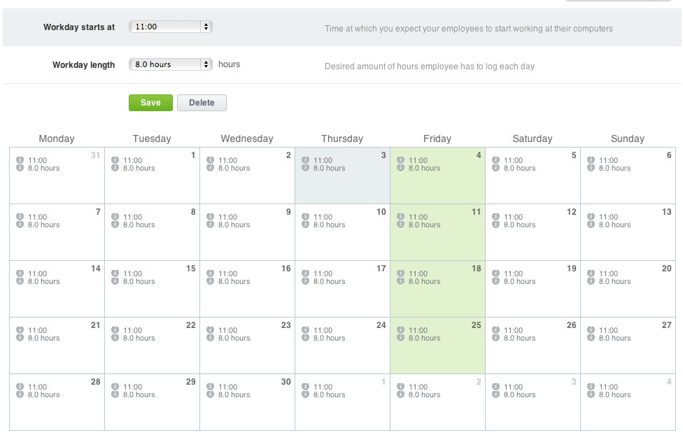 New Feature Cuztomizable Employee Time Table Desktime