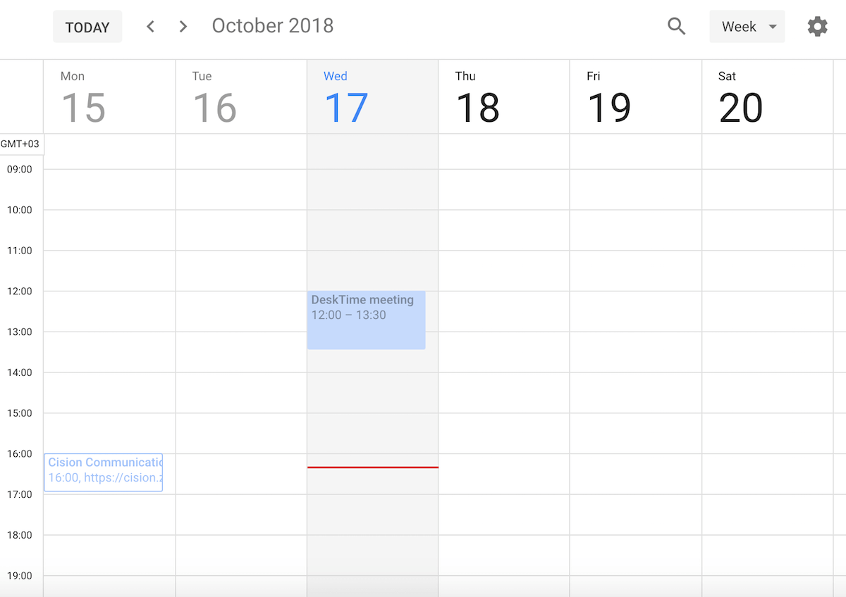 desktime google calendar integration