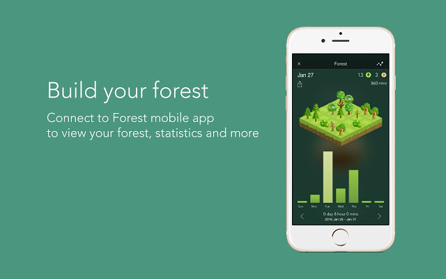 Forest time management and productivity app