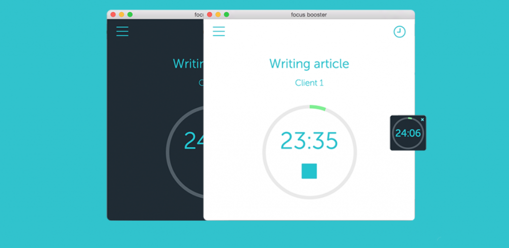 Focus booster Pomodoro timer and time management app