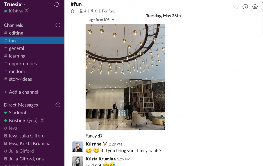 Slack real-time messaging and time management app