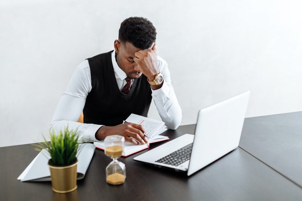 Man struggling with setting priorities