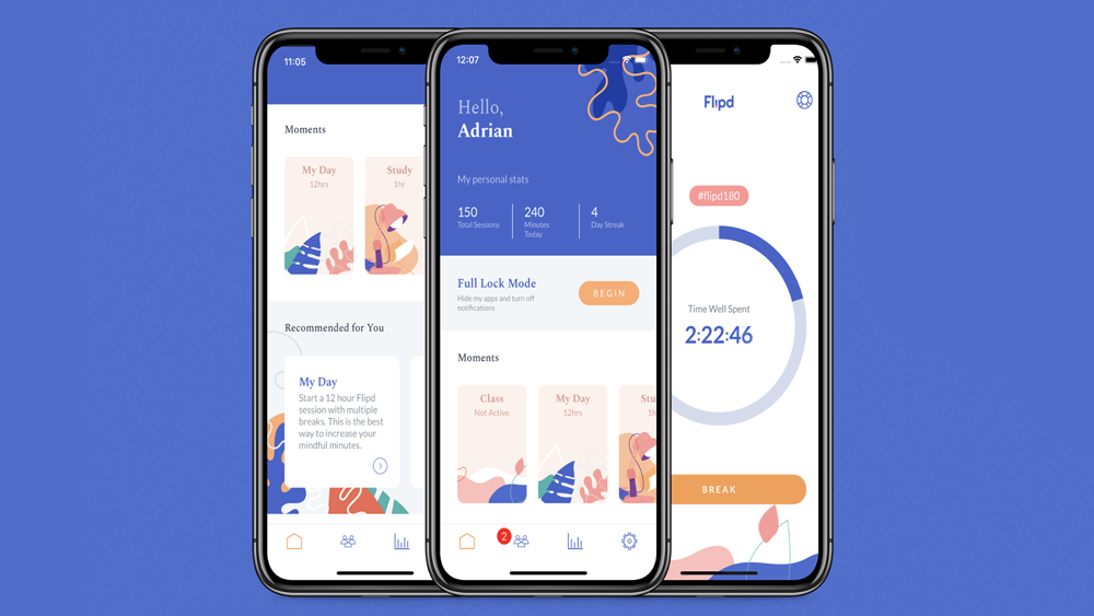 Flipd - time management app for productivity tracking