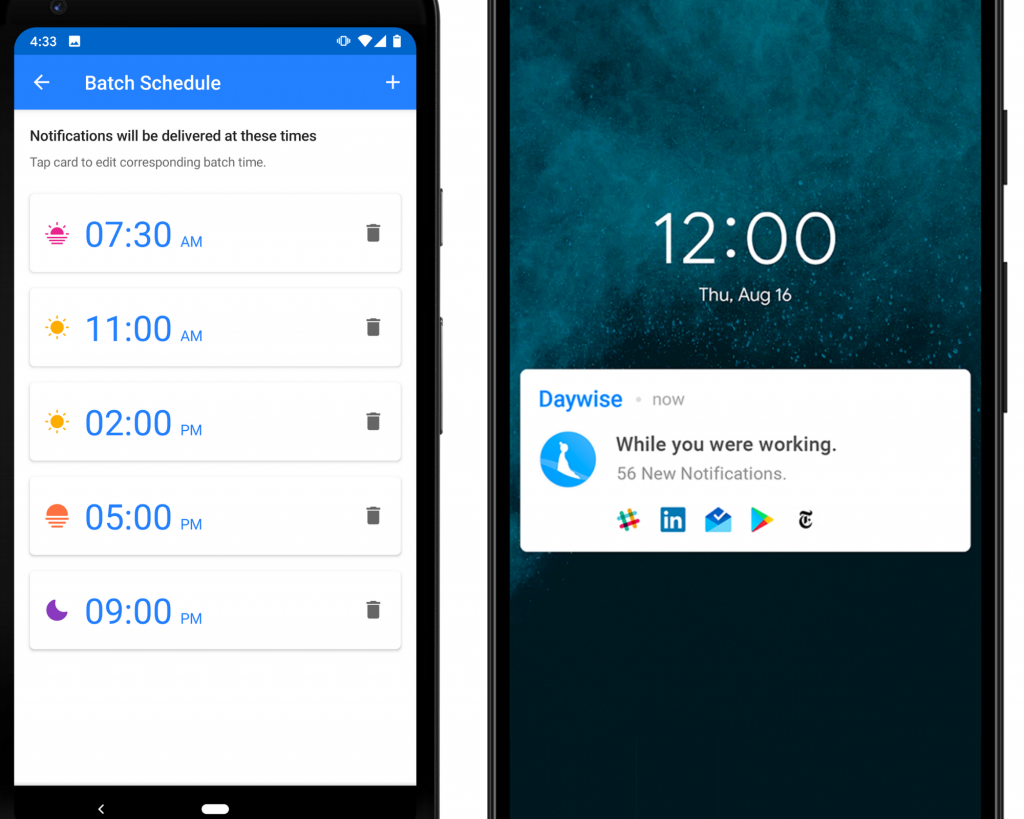 time management app for scheduling notifications