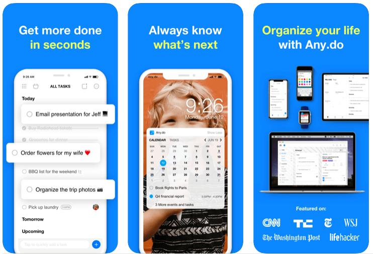 Any.do best to-do list app