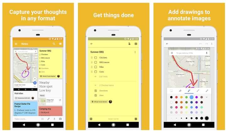 Google Keep daily checklist app