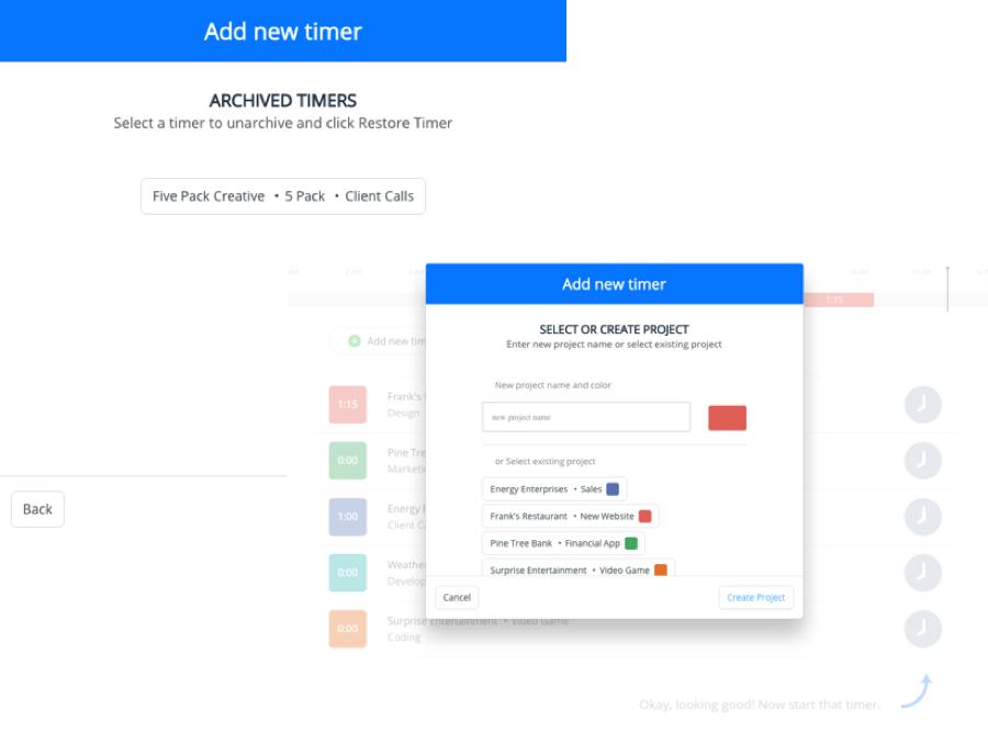 A screenshot of Hours employee timesheet app