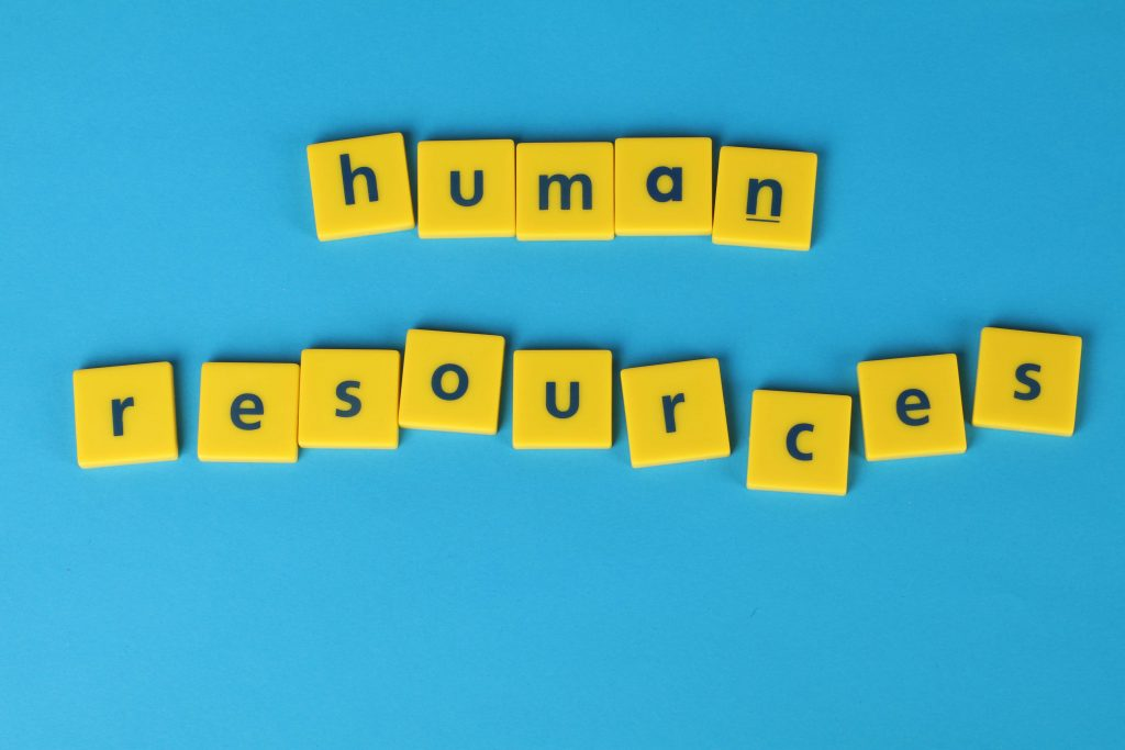 """plastic letters saying """"human resources"""""""