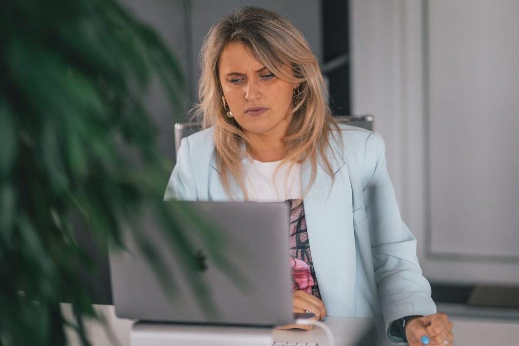 remote employee woman